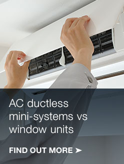 Ductless vs. window AC systems