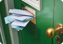 Piles of mail are an invitation to burglars